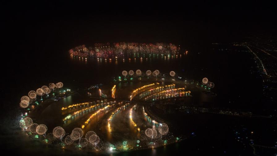 Посрещането на Нова година по света в снимки