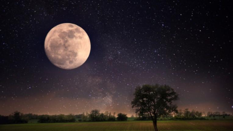 луна нощ звезди астрология небе