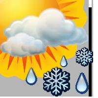 Променлива облачност и слаби превалявания от мокър сняг