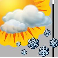 Променлива облачност и слаб снеговалеж