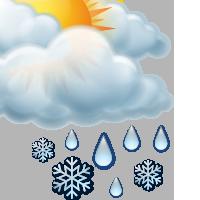 Предимно облачно със слаб мокър сняг