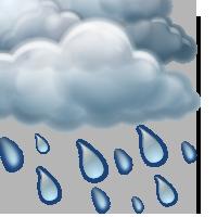 Overcast and rain