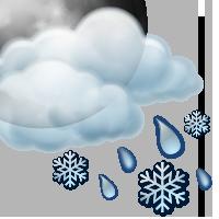 Променлива облачност с краткотрайни превалявания от мокър сняг