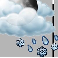 Предимно облачно с краткотрайни превалявания от мокър сняг